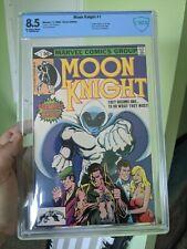 MOON KNIGHT #1 (1980) CBCS NOT CGC 8.5 ORIGIN 1ST RAOUL BUSHMAN WHITE PAGES