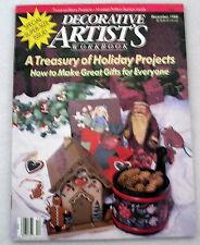 Decorative Artists Workbook Dec1988 Tole painting patterns instructions