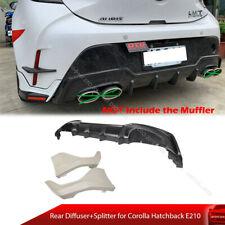 Unpainted For Toyota Corolla Hatchback E210  Rear Diffuser + Splitter TR Look