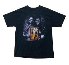 Travis Tritt & Marty Stuart No Hats Tour Country Music Vintage 90s Band T-Shirt