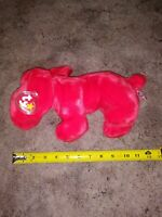 """RARE 1998 Rover the Red Dog Beanie Buddy 13"""" Mint w/Tag Protector"""