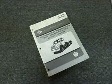 2000 International 4700 4800 4900 8100 Truck Electrical Wiring Manual Book