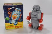 1960's Vintage Noguchi Space Mighty Robot Wind Up Astronaut Tin & Plastic Toy