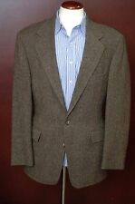 Polo Ralph Lauren Men's Olive Green Harris Tweed Wool Sport Coat Blazer 42R 42 R