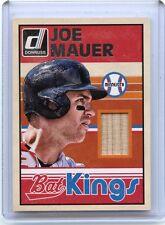 "2015 DONRUSS #45 JOE MAUER ""BAT KINGS"" BAT CARD, MINNESOTA TWINS, 050115"