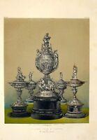 Grande 1862 Exhibition Stampa Oxydized Argento Vasi Da Mr C Hancock London