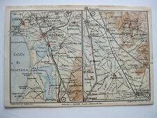 stampa antica MAPPA ORISTANO CABRAS SIMAXIS TERRALBA MOGORO URAS PABILLONIS 1919