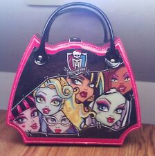 NICE MONSTER HIGH STORAGE CARRY MAKE-UP CASE DOLL ACCESSORY W/PURSE