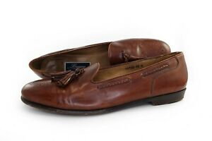 Bragano Cole Haan Mens Dress Shoes Brown Leather Brogue Tassel Loafers Size 12 D