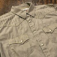 Rock 47 By Wrangler Embroidered Pearl Snap Shirt Mens Size L Rockabilly Western