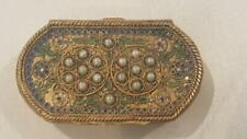 Antique French Jeweled & Enamel Double Compact