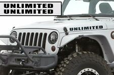 Custom Jeep Wrangler Willy Hood Decal - Unlimited - Matte Black Vinyl Both Sides