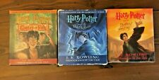 Lot 3 Harry Potter Audiobooks CDs Goblet of Fire Order Phoenix Deathly Hallows