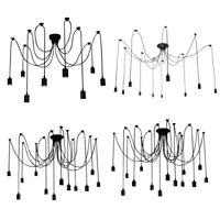 6/8/10/12/14 Head Edison Industrial Spider Chandelier Pendant Ceiling Light Lamp
