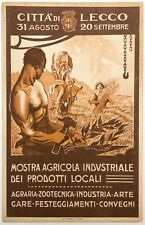 MOSTRA AGRICOLA INDUSTRIALE CITTÀ DI LECCO cartolina pubb. ill. Todeschini