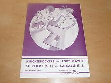 1950 1951 FORT WAYNE PISTONS AT NY KNICKS NBA BASKETBALL PROGRAM EX-MINT