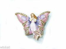 Butterfly Fairy Bejeweled Trinket Box
