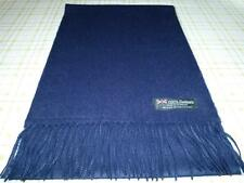 NEW Cashmere Scarf Solid Navy Blue Unisex WARM Scotland Wool Thick 2PLY