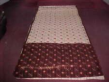 NEW Cream BROWN SILVER BREATHTAKING Sari STUNNING BANDHANI Fabric SAREE PANELS
