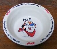 Kellogg's Tony Tiger Corn Flakes Cereal Bowl Vtg 1985