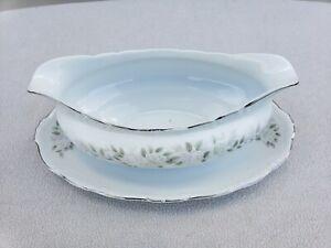 Sheffield Fine China Classic 501 Japan Gravy Boat Dish Pink Roses