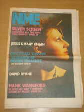 NME 1984 DECEMBER 8 COCTEAU TWINS DAVID BYRNE HANK WANGFORD