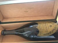 RARE Vintage 1988 Dom Perignon Moet & Chandon Champagne Cuvee EMPTY BOTTLE + BOX