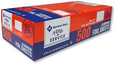 Members Mark Pre-Cut Food Service  Aluminum  Foil Sheets, 12 X 10.75 (500 Ct.)