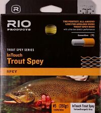 Rio InTouch Trout Spey #5 350 Grain Yellow Orange Lt Gray Free Shipping 6-21865