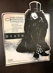 DEATH (Sandman / Vertigo) -- HUGE 14 X 11 Countertop Stand Promo -- Scarce Item