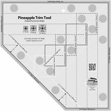 """Creative Grids Quilt Ruler - Pineapple Trim Tool  6"""", 8"""", 10"""" Finished CGRJAW3"""