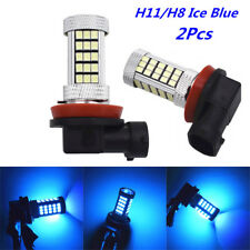 2Pcs 3000K Ice Blue 2835 66SMD H11 H8 LED Light Bulb Car Fog Light Driving Lamps
