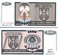 BOSNIA HERZEGOVINA 5000 5,000 DIANARA 1993 P 149 UNC