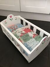 More details for dolls wooden rocking cot- new and handmade