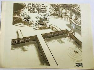 Original Political Cartoon By DRAPER HILL