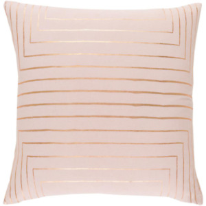 Shrewsbury Pink Geometric Polyester 22 in. x 22 in. Throw Pillow