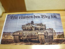 Fahnen Flagge Deutsches Reich Wir räumen den Weg frei - 90 x 150 cm