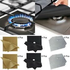 2/4Pcs Kitchen Stove Top Burner Protector Reusable Liner Cleaning Pad Cover Mat