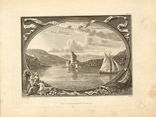 st. kelly's castle on the black water in ireland .1779 engraving  scarce view !