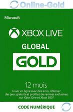12 Mois Abonnement - Xbox Live Gold Code jeu à télécharger Xbox One 360 - Global