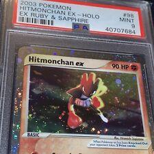 2003 EX Ruby & Sapphire Pokémon Hitmonchan EX Holo #98 PSA 9 Mint