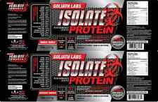 Whey Protein powder Isolate 10lb Chol/Van 100% Cold Filtere two Flavors