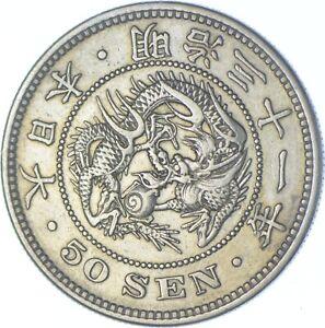 Better Date - 1898 Japan 50 Sen - SILVER *630