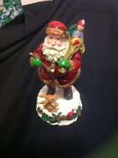 Home For The Holidays Visions Of Santa 1874 & 1913 Santa Musical Figurine
