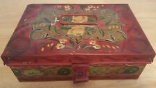 Spice Tin Antique Victoria / Tole Painted Box