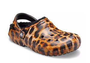 NEW Crocs Adult Classic Leopard Print Lined Clogs M5/W7, M6/W8, M7/W9, M8/W10