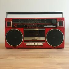 Vintage Toshiba RT-90S Stereo Radio Cassette Boombox Collectible Red