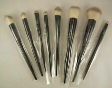 Set of 8 UCANBE black foundation powder makeup brushes soft fibre grasp handle