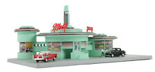 1998 MTH 30-9105 Railtown Mel's Operating Drive-In Diner Accessory, New/OB