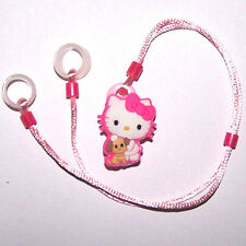 Children's Hearing Aid safety Leash RETAINER CORD CLIP for 2 H.A.'s KITTY DOGGIE